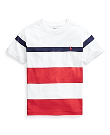 Toddler Boys Striped Cotton Pocket T-shirt
