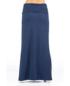 Women's Fold Over Maxi Skirt