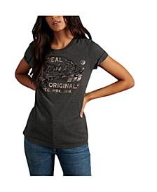 Women's Script Sequin T-Shirt
