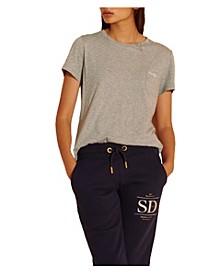 Women's Organic Cotton Scripted Crew Neck T-Shirt
