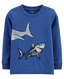 Toddler Boys Shark Action Graphic Slub Jersey Tee