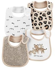 Carters Baby Girl 4-Pack Animal Teething Bibs