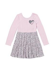 Little Girls Long Sleeve Skater Dress