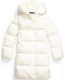 Big Girls Quilted Hooded Down Coat