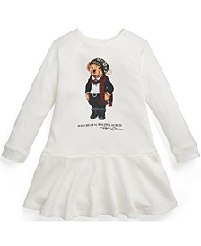 Toddler Girls Tuxedo Bear French Terry Dress