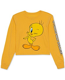 Juniors' Tweety Long-Sleeve T-Shirt
