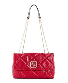 Dilla Quilted Logo Convertible Flap Crossobdy
