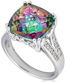 Amethyst (6 ct. t.w.) & Diamond (1/10 ct. t.w.) Ring in Sterling Silver (Also in Citrine, Mystic Topaz & Blue Topaz)