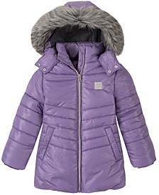 Little Girls Shimmer Puffer Jacket
