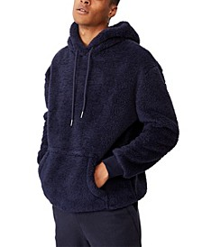Men's Drop Shoulder Teddy Fleece Hood
