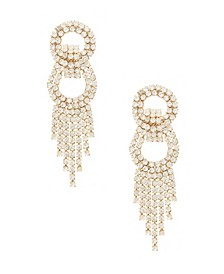 Dancing Crystal Chain Fringe Earrings