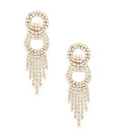 Dancing Crystal Chain Fringe Earrings