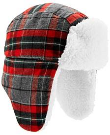 Baby Boys Plaid Sherpa Trapper Hat