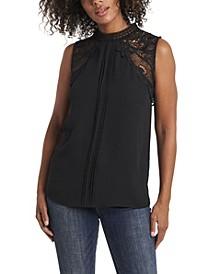Women's Lace Collar Blouse