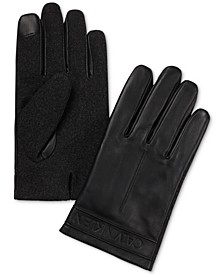 Men's Melton Mixed-Media Touchscreen Gloves