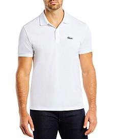 Men's Regular-Fit Embroidered Animal-Print Croc Logo Piqué Polo Shirt