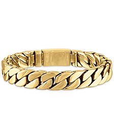 Curb Link Chain Bracelet in Gold-Tone Ion-Plated Stainless Steel, Created for Macy's
