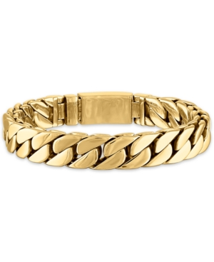 Curb Link Chain Bracelet in Gold-Tone Ion-Plated Stainless Steel