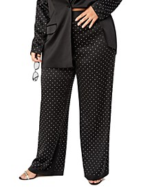Trendy Plus Size Studded Pants, Created for Macy's