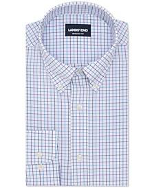 Lands' End Men's The Ultimate Commuter Classic/Regular-Fit Non-Iron Performance Tech Check Dress Shirt