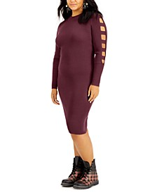 Trendy Plus Size Ladder-Sleeve Sweater Dress