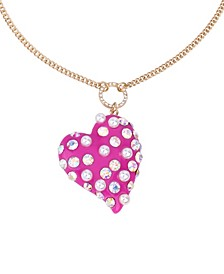 Pearl Heart Pendant Long Necklace