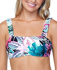 Juniors' Eco Capsule Haute Bloom Printed Tulum Bikini Top