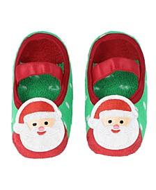 Baby Boys and Girls Anti-Slip Socks with Santa Claus Applique