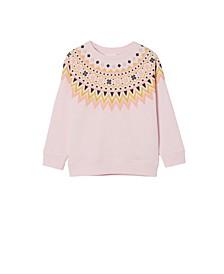 Toddler Girls Sage Crew Sweatshirt