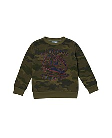 Little Boys Long Sleeve Graphic Top