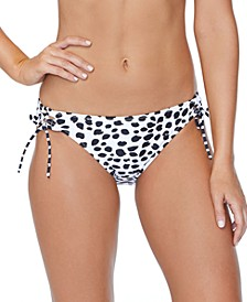 Juniors' Eco-Capsule Spot On Printed Tie-Side Bikini Bottoms
