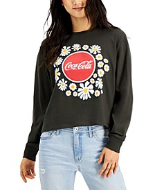 Mighty Fine Juniors' Floral Coca-Cola Long Sleeve Top