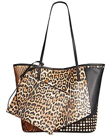 Animal Patchwork Tote with Wristlet