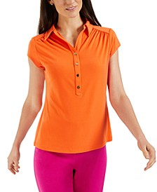 Petite Polo Top, Created for Macy's