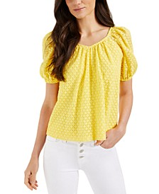 Lace Puff-Sleeve Top, Created for Macy's
