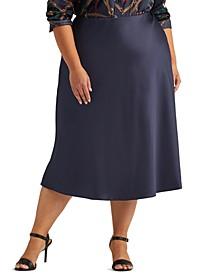 Plus-Size Satin Skirt