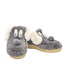 Women's Fuzzy Dog Slippers
