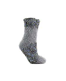 Women's Knotted Angora Lounge Sock, 2 Pieces
