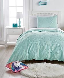 Butterfly Microsculpt Comforter Set, Twin