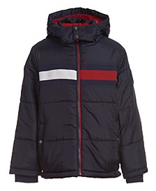 Little Boys Flag Puffer Jacket