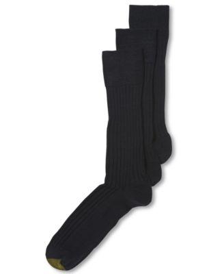 Gold dress size 7 9 mens socks