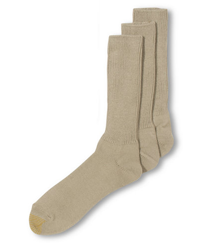 Gold Toe ADC Acrylic Fluffies 3 Pack Crew Casual Men's Socks