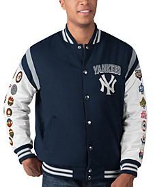 Men's New York Yankees Commemorative Goal Varsity Jacket
