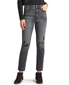 The Stiletto Distressed Straight-Leg Jeans