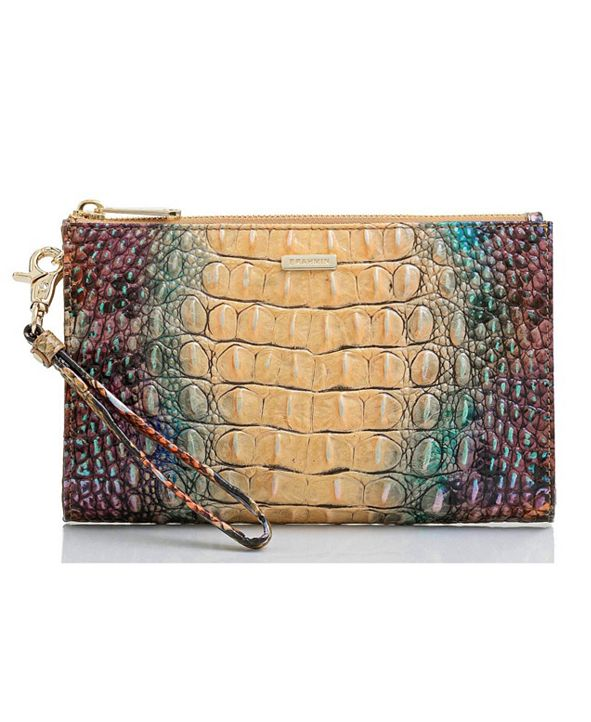 Brahmin Leather Daisy Feline Ombre Melbourne Wallet
