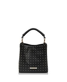 Leather Mini Amelia Black Obscura Bucket Bag