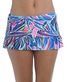 Printed Hipster Swim Skirt
