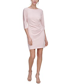 Petite Lace-Trim Sheath Dress