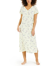 Printed Cotton Short Sleeve Nightgown, Created for Macy's