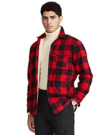 Men's Classic-Fit Fleece-Lined Plaid Overshirt